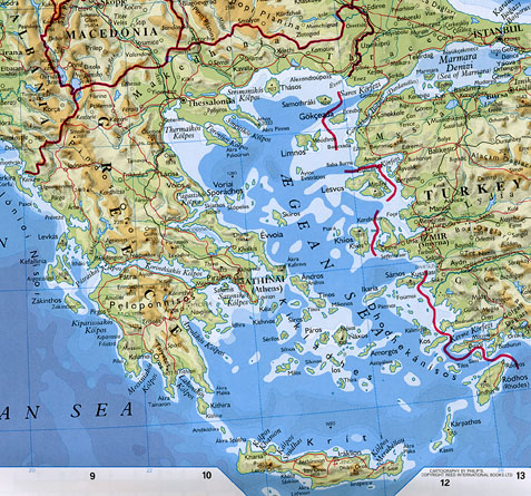 List2 topographical map of greece and the aegean sea oxford essential world atlas gumiabroncs Gallery