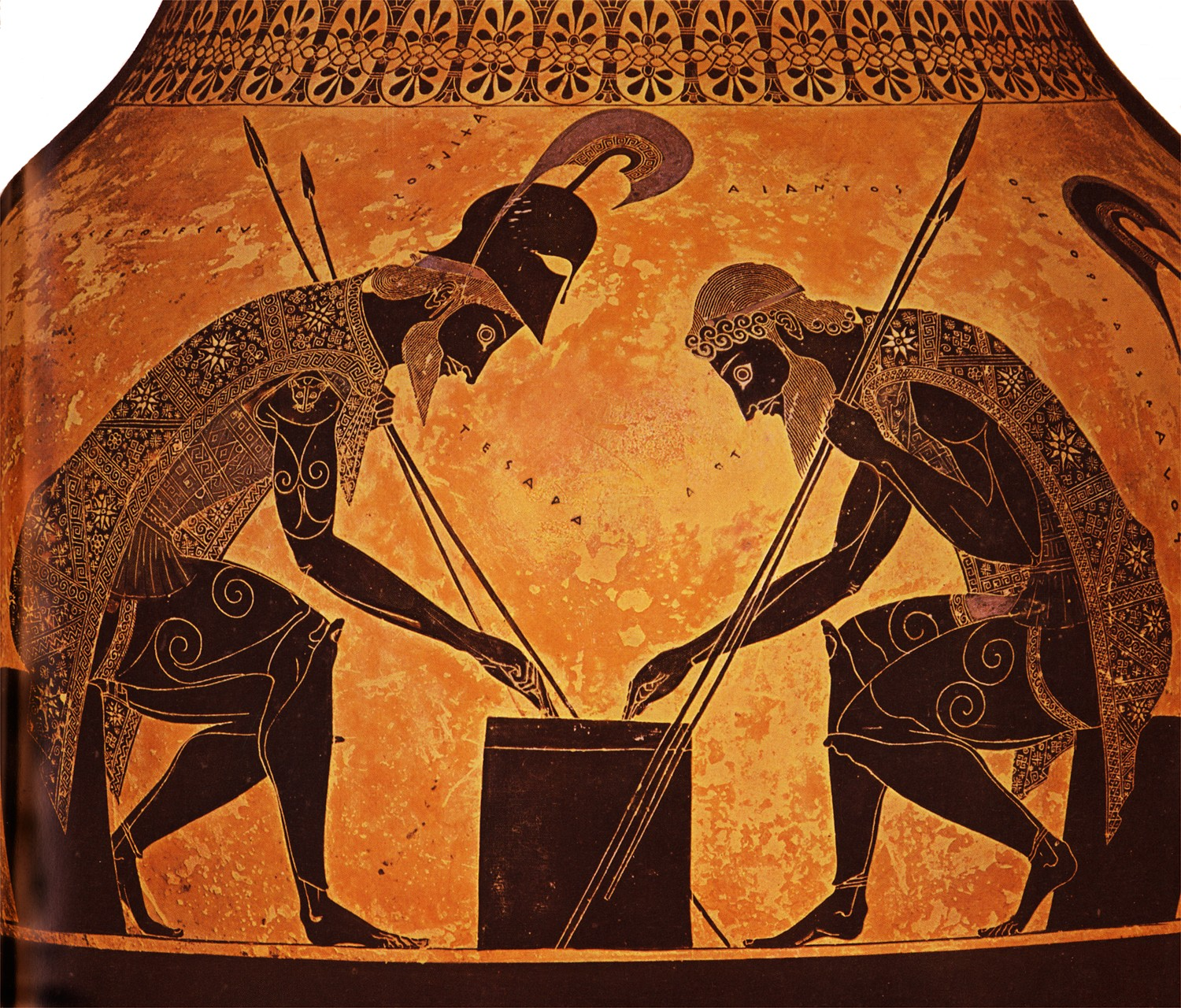 ILION: Greek Krater showing Achilles and Ajax playing a ...