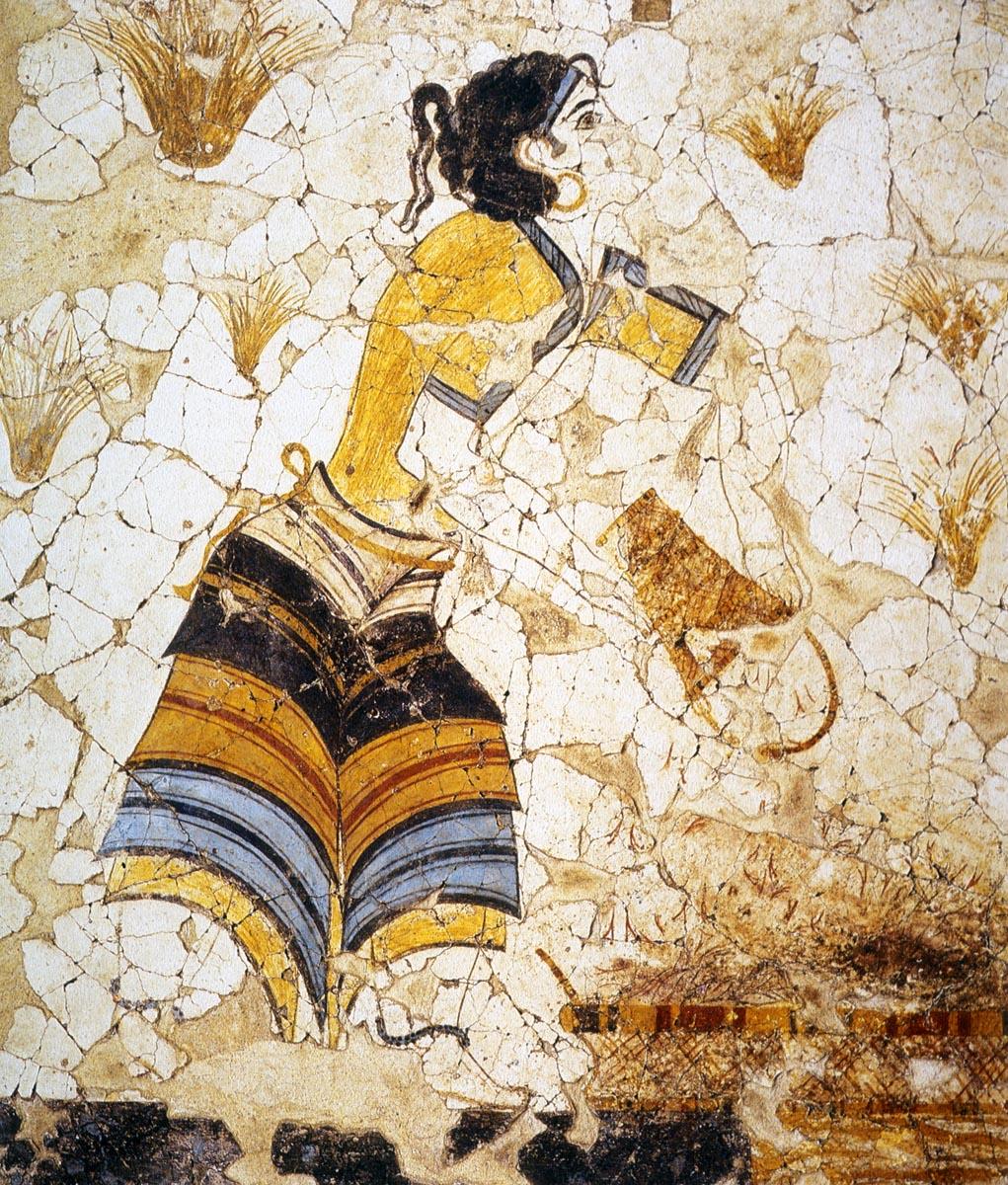 House Of Ladies Fresco Akrotiri Thera